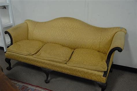 claw foot sofa mahogany chippendale style ball and claw foot camel back sof