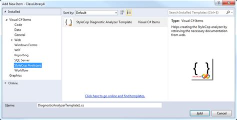 custom category template c visual studio template custom template category