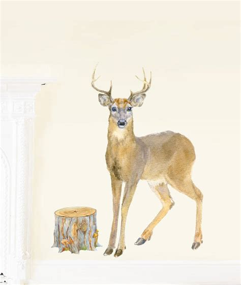 deer wall sticker deer fabric wall stickers by chocovenyl notonthehighstreet