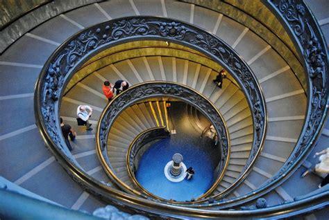 spiral staircase in the vatican museum fibonacci spiral
