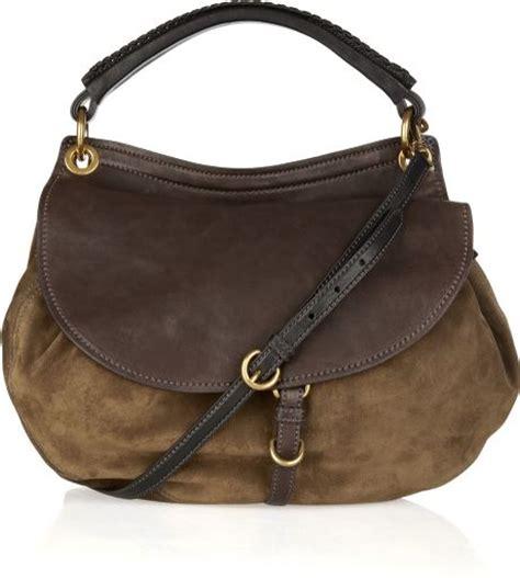 Miu Miu Spider Leather Bag by Miu Miu Suede And Leather Shoulder Bag In Brown Lyst
