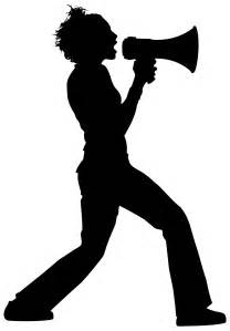megaphone silhouette megaphone stencil cliparts co