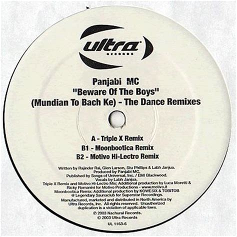 beware of the boys panjabi mc beware of the boys dance remixes ultra records
