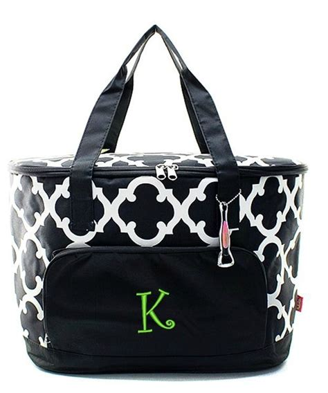 personalized monogram  insulated cooler beach picnic