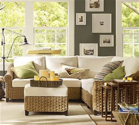 seagrass sectional holbrook seagrass sectional components potterybarn home