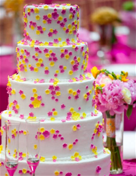 wedding ideas pink yellow and white wedding