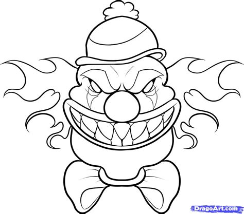 scary pics to color clown coloring pages scary clown coloring pages