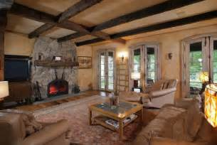 Rustic Living Room with Wall sconce & Built in bookshelf in Bernardsville, NJ   Zillow Digs