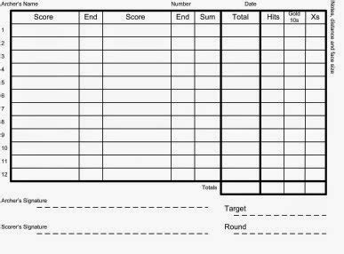 3d archery score card template discoverthat archery score cards