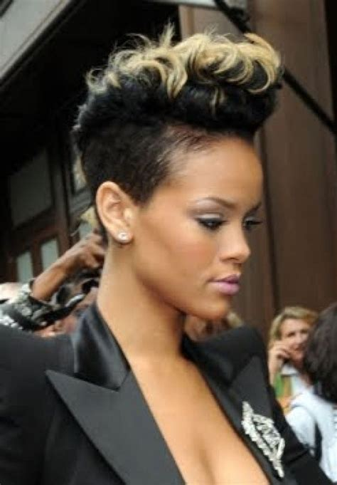 black women with short blonde mohawks mohawk hairstyles for black women beautiful hairstyles