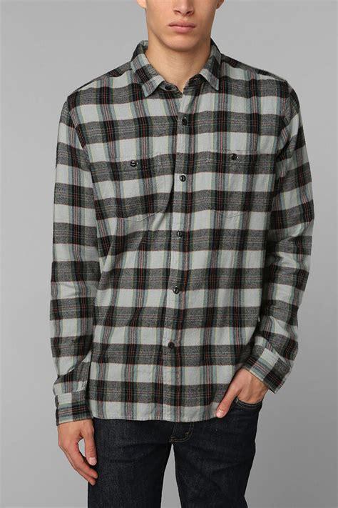 Kemeja Flannel Tartan Black Grey lyst stapleford stapleford morrone plaid flannel button shirt in gray for