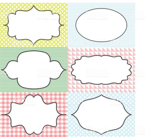 Frame Sticker Label Tags Card Template Blanks For Signature Stock Vector Art More Images Of Sticker Template