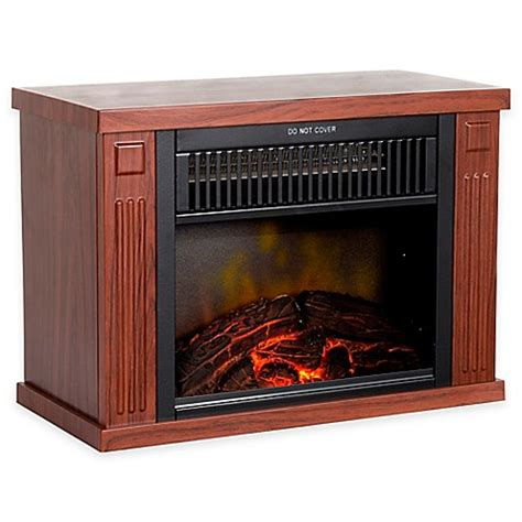 bed bath and beyond heater buy northwest mini portable electric fireplace heater in wood from bed bath beyond