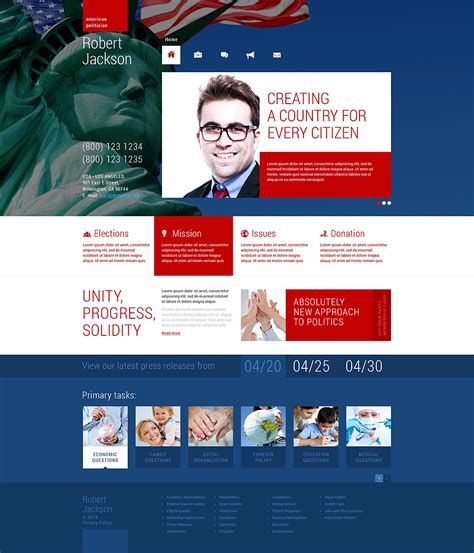 Political Candidate Responsive Wordpress Theme 48674 Candidate Website Template