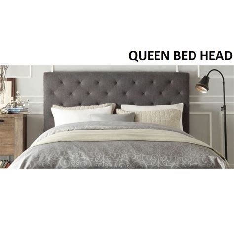 head bed chester queen size fabric bed head headboard grey buy