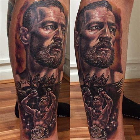 conor mcgregor tattoo portrait conor mcgregor fans put their passion in ink tattoodo