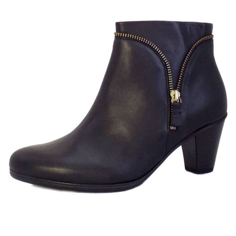 gabor boots onida black leather ankle boots mozimo