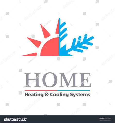 Heating Cooling Systems Business Sign Vector Stock Vector 295397822 Shutterstock Heating And Cooling Website Template