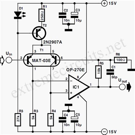 transistor microphone lifier circuit low noise microphone lifier op270e circuit diagram