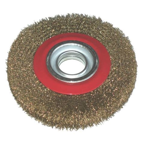 6 wire wheel for bench grinder toolzone 6 quot wire wheel for bench grinder tools leisure