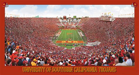 university  southern california trojans football aerial