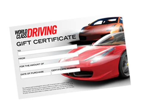 automotive gift certificate template car