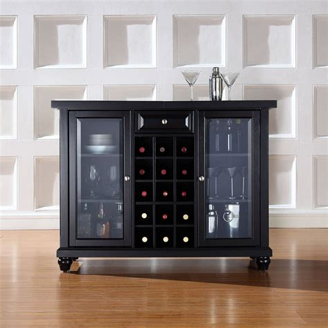crosley cambridge sliding top bar cabinet cambridge sliding top bar cabinet black d kf40002dbk
