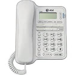 home service without a phone line at t cl2909 corded phone with caller id white staples 174