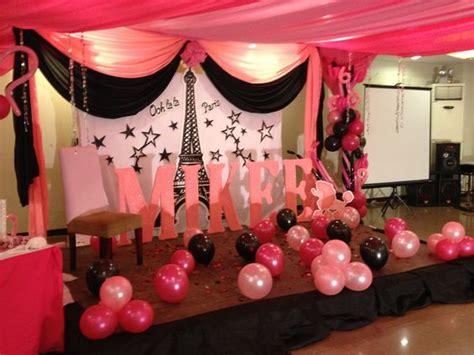 cute themes for debut parisian theme party debut decorations pinterest