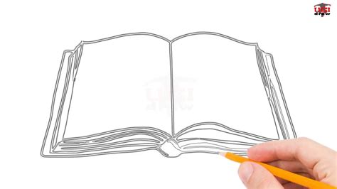 L Drawing Book by How To Draw A Book Step By Step Easy For Beginners