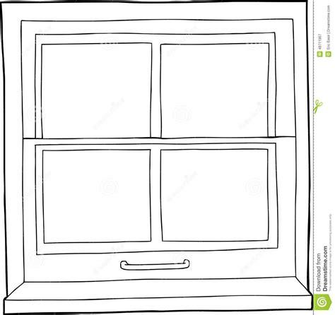House Design Windows App by Outline Cartoon Window Stock Illustration Image 48711967