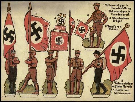 printable paper toy soldiers german sa flags jpg paper soldiers pinterest