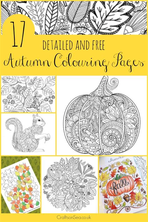 17 detailed autumn colouring pages crafts on sea