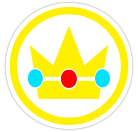 quot princess peach crown quot stickers sirrockalot redbubble