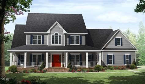 2 story farmhouse plans country two story home with wrap around porches maverick
