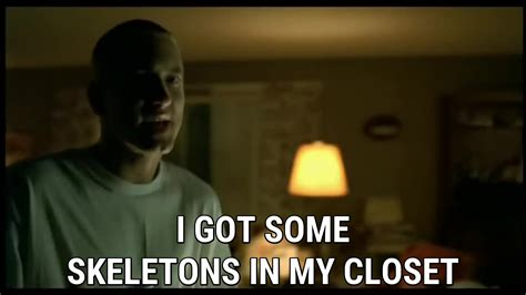Skeletons In Closet Lyrics by Cleanin Out Closet Lyrics Eminem Song In Images