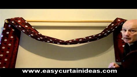 how to hang a swag scarf curtain how to make and hang a scarf swag youtube