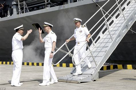 Shanghai Navy us navy command ship docks in shanghai after it was turned away from hong kong daily mail