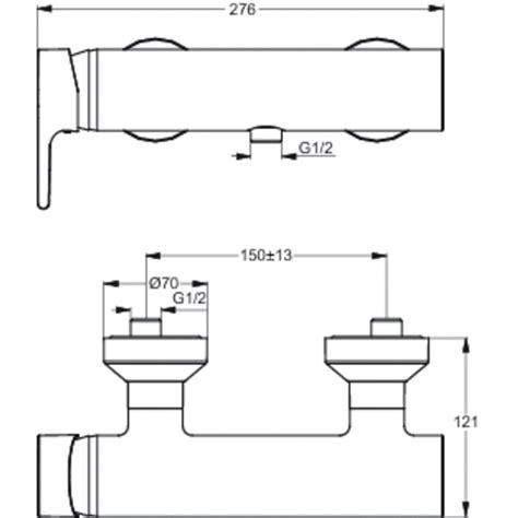 miscelatore doccia ideal standard ideal standard ceraplan b1195aa