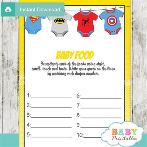 Book Theme Baby Shower by Superhero Onesie Baby Shower Games D210