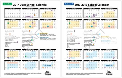 calendar design options 2017 18 school year calendar options available for review