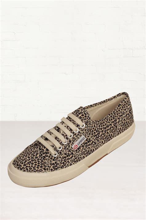 leopard print sneakers for superga cotu classic leopard print sneakers in animal