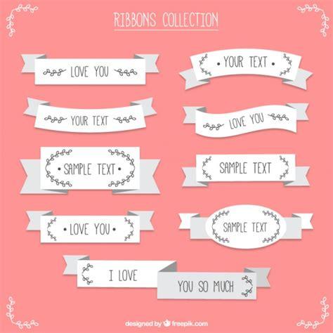 decorative ribbon flat decorative vintage ribbons vector free