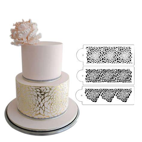 cake decorating stencils camilla stencil set 3 tier cake stencil wedding cake