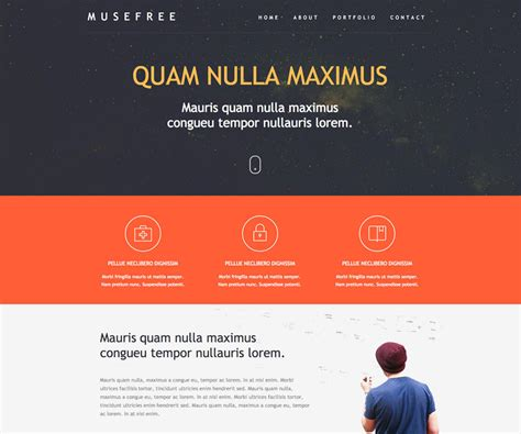 adobe muse templates free adobe muse template free