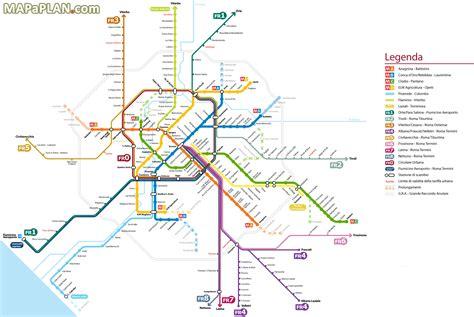 rome metro map map rome