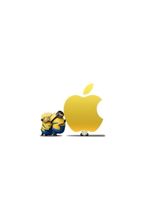 minions wallpaper google play ミニオンズ アップルロゴ iphone壁紙 wallpaper backgrounds iphone6 6s and