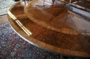 Dining Room Tables With Extension Leaves Large Round Mahogany Dining Table W Leaves Perimeter Ebay
