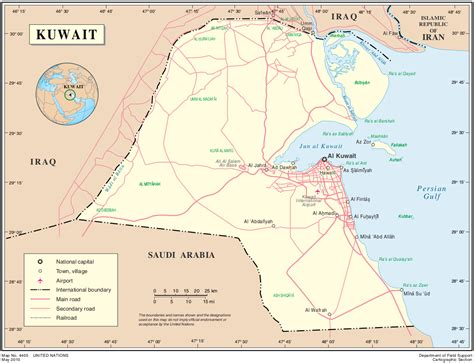 middle east map kuwait map of kuwait political map worldofmaps net