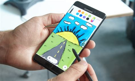 Note 9 Drawing by Samsung Galaxy Note 9 S Pen Could Do Much More Than Just